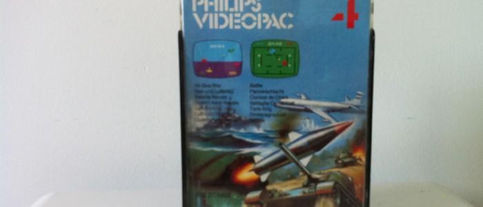 Vidéopac 4 bataille aeronavale combat chars