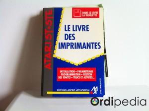 Le livre des imprimantes pour Atari ST+STE